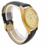 Vintage Bulova Calendar Quartz Gold Plated Gents Watch