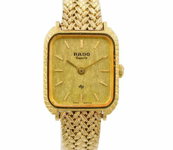 Vintage Rado 133.9517.2 Gold Plated Quartz Ladies Watch