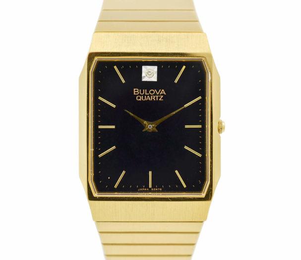 Vintage Bulova Quartz 92N76 Gold Plated Midsize Watch