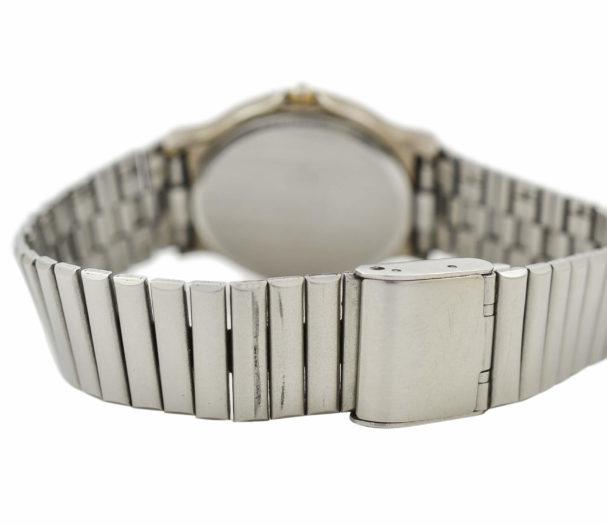 Vintage Bulova Longchamp Quartz Stainless Steel Gents Midsize Watch