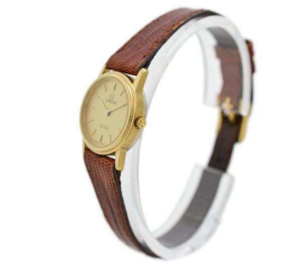 Vintage Omega De Ville Cal.1375 Quartz Gold Plated Ladies Watch