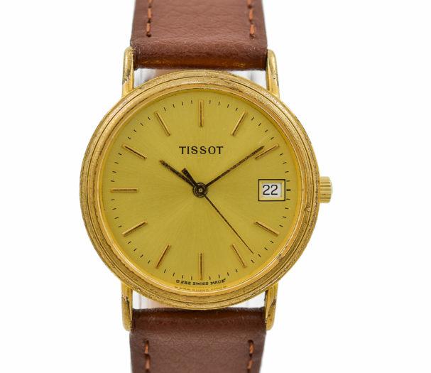 Vintage Tissot Classic C252K Quartz Gold Plated Midsize Watch