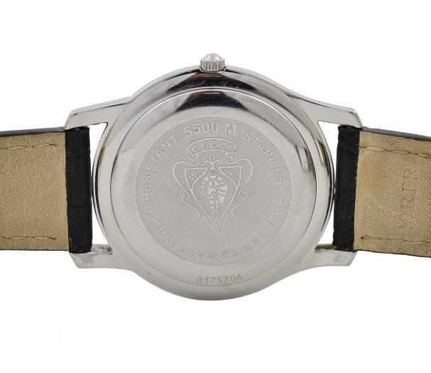 Vintage Gucci 5500M Quartz Stainless Steel Gents Midsize Watch
