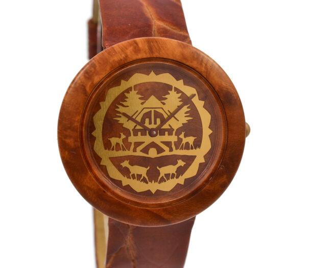 As New Vintage Tissot Wood Watch W195 Midsize Quartz Watch
