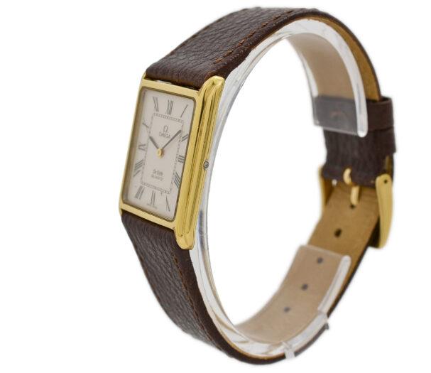 Vintage Omega De Ville Rivoli Cal.1365 Quartz Gold Plated Watch