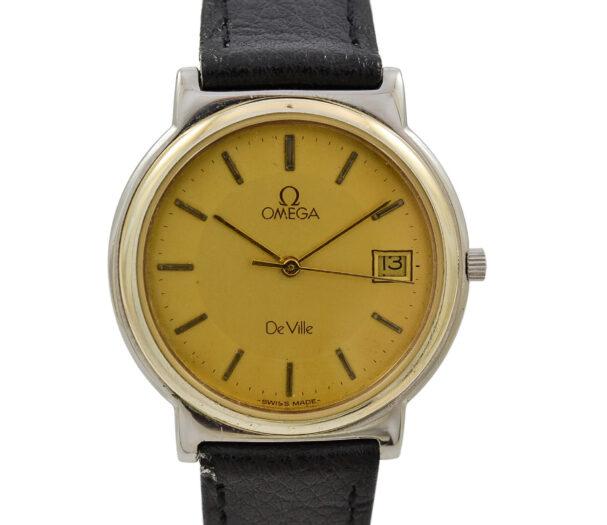 Vintage Omega De Ville Cal.1430 Quartz Stainless Steel Midsize Watch