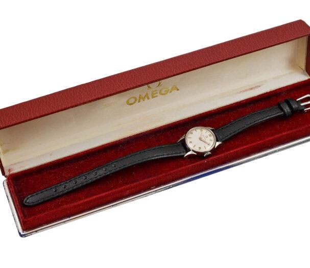 Vintage Omega Geneve Cal.244 Manual Wind Stainless Steel Ladies Watch 1948