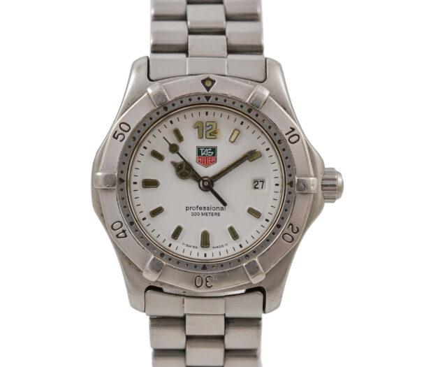 Vintage Tag Heuer 2000 Series WK1311 Quartz Ladies Stainless Steel Watch