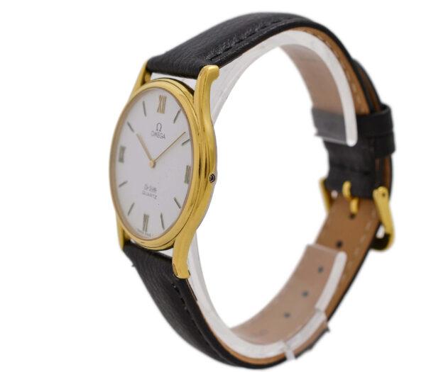 Vintage Omega De Ville Cal.1365 Quartz Gold Plated Midsize Watch