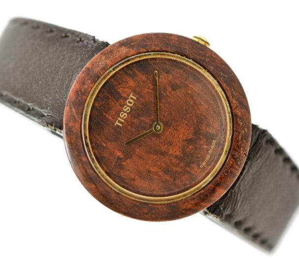 Vintage Tissot Wood Watch W150 Ladies Quartz Watch 1962