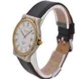 Vintage Bulova Longchamp Quartz Stainless Steel Midsize Watch