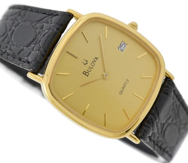 As New Vintage Bulova 1100 Quartz Gold Plated Midsize Dress Watch 1967