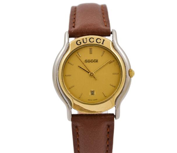 Vintage Gucci 8000L Quartz Bi-Metal Steel Ladies Watch