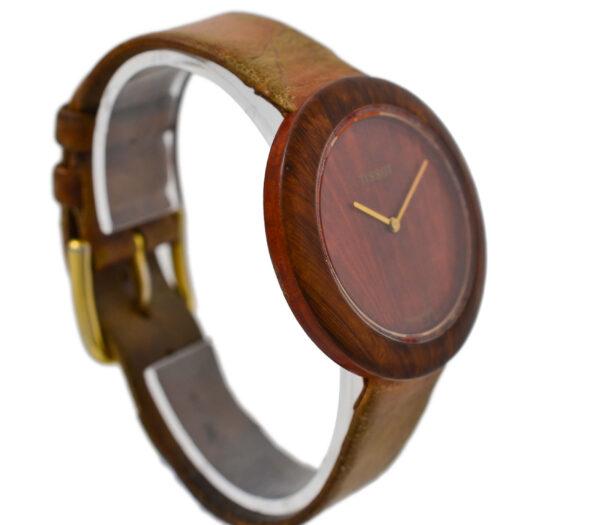 Vintage Tissot Wood Watch W151 Midsize Quartz Watch 2021