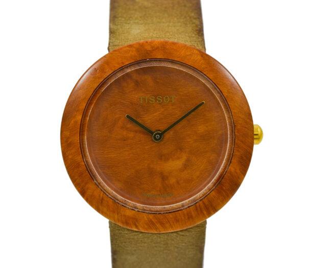 Vintage Tissot Wood Watch W150 Ladies Quartz Watch 2028