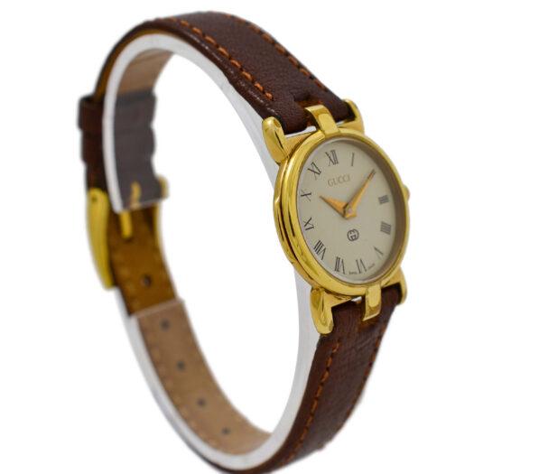 Vintage Gucci 3400L Gold Plated Ladies Quartz Watch 1586