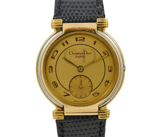 Vintage Christian Dior 51-15-01 Gold Plated Midsize Quartz Watch 2030