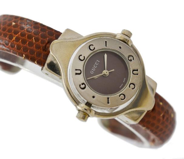 Vintage Gucci 6600L Quartz Stainless Steel Ladies Bangle Watch