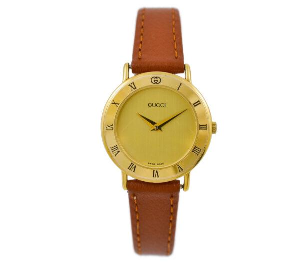 Vintage Gucci 3000.2.L Quartz Gold Plated Ladies Watch 2052
