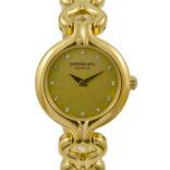 Vintage Raymond Weil Geneve 5878 Gold Plated Ladies Quartz Watch 2060